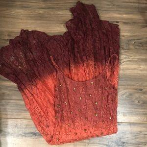 MaJick lace ombré dress sz M